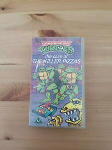 Teenage mutant hero Turtles VHS case of the killer pizzas