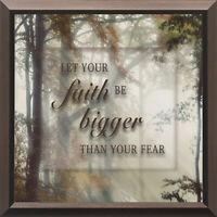 Faith Bigger Than Fear Wall Art Plaque Sign Motivating Decor For Inspiration