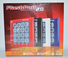 FlashPad Touch N Go! 2.0 Electronic Game 5 Interactive Games Red Portable