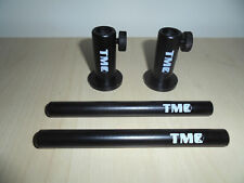 """2 x Anodized Aluminium Stage stands with locking nuts, with 2 x 5"""" inserts. Carp"""