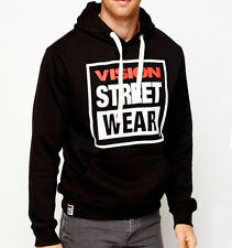 VISION STREET WEAR Hooded Skateboard Top - '80s Old School  Hoody - L - Hoodie