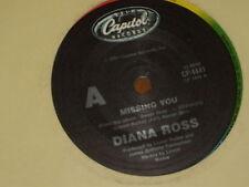 """DIANA ROSS *RARE 7"""" 45 ' MISSING YOU ' 1984 VGC+"""