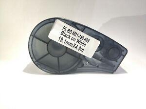 """NEW Brady Compatible Label Cartridge M21-500-499 Black/White Nylon 1/2"""" x 16'"""