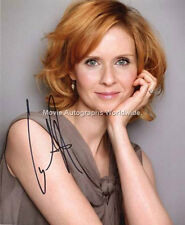CYNTHIA NIXON Sex and the City 'Miranda Hobbes' Signed Autograph AFTAL & UACC RD