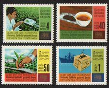 Ceylon. 1967 The 100th Anniversary of Tea Cultivation in Ceylon. SG 526-529. MNH