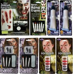 LOT OF 8 - Multi-Brand Horror Halloween Zombie SFX Makeup Kit Bundle SEALED