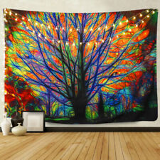 Psychedlic Forest Tree Print Tapestry Wall Hanging Throw Tapestry Art Room Decor
