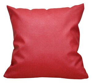 Pc507a Red Faux Leather Cross Pattern PVC Cushion Cover/Pillow Case*Custom Size*