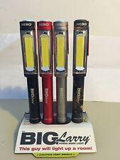 4 Pack NEBO BIG LARRY 400 LUMEN FLASHLIGHT MAGNETIC WORK LIGHT Associated Colors