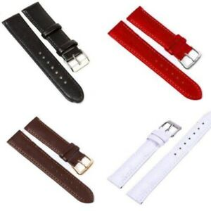 10Colors 8 Sizes Men Women PU Watchband Width Genuine Leather Watch Band Strap