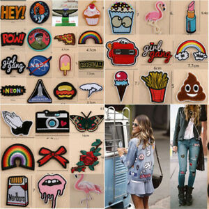 Sew Iron On Patch Cloth Bag Embroidery Applique Stickers Fabric Patches Badges