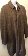 Vtg  McGregor Wool Car Coat Jacket Barn Coat Sherpa Lined Wood Buttons Size 40