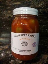A Taste of Louisiana, Homemade Spicy Pickled Okra 3/16oz Jars