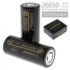 LiitoKala 2pcs 26650 3.7V 5000mAh lii-50A Li-ion Rechargeable Battery for toys
