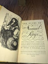 The Diary of Samuel Pepys,Volume I & II  Henry B Wheatley 1942 Limited Edition