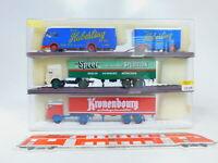 CA154-0,5# 3x Brekina 1:87/H0 Lastzug Büssing: 7905 + 7914 + 57801, sehr gut+OVP