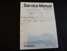 Original Service Manual Technics SH-DV150