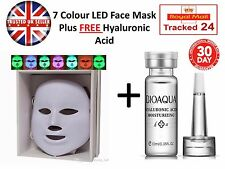 7 Colors PDT Light LED Photon Mask Face Skin Rejuvenation Wrinkles FREE HA ACID