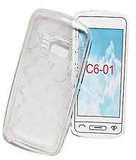 Silikon TPU Cover Handy Case Hülle Schale Schutz  in Foggy für Nokia  C6-01