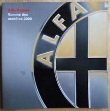 ALFA ROMEO range 2000 Swiss Market prestige brochure -145 146 156 166 GTV Spider