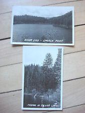 2 Vintage Rppc Fishing In Silver Lake, Lincoln Montana