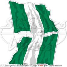 NIGERIA Nigerian Flying Flag Commonwealth 75mm Stickers