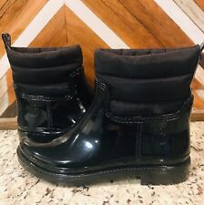 MICHAEL KORS | Blakely | BLACK Rain Boots  | Logo Fully Lined Bootie | US 6 NEW