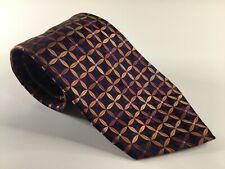 Geoffrey Beene Men's Neck Tie New Necktie NWOT Silk Neckwear Blue Orange