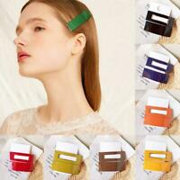 Elegant Women Geometry Acrylic Hair Clip Barrette Stick Hairpin Hair Accessories