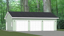 36x28 3-Car Garage -- 1,008 sq ft -- PDF Floor Plan -- Model 11E
