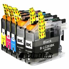 5pk Ink set for Lc203 Brother Lc203xl mfc J480dw J460dw J485dw J680dw Lc201
