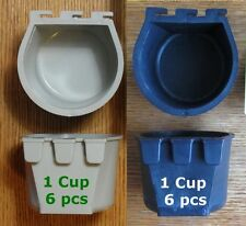6pcs Black &6pcs Gray 1 Cup Hanging Water Feed Cage Cups Poultry Gamefowl Rabbit