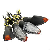4x 12V 14 LED Luci Indicatori Direzione Frecce Omologate Segnale Ambra Moto E2G0