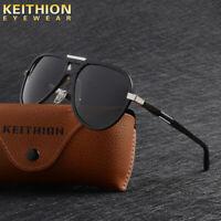 KEITHION Aluminium HD Polarized Sunglasses Mens Oversize Outdoor Driving Eyewear