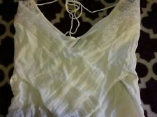 Zara Basic Crop 3/4 Bell Sleeve Off White Peasant Top Lace Shoulders Size L EUC