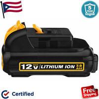 For DEWALT 12V 12 VOLT LITHIUM BATTERY DCB120 DCB127 DCB121 Extended Capacity US