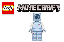 New Authentic Minecraft Special Blue Skin with Pick Axe Lego Minifigure