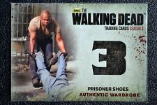 Cryptozoic Walking Dead Season 3 M14 Prisoner Shoes Wardrobe Prop Trading Card