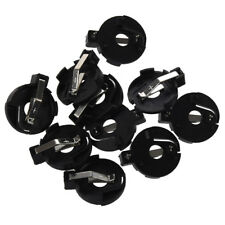 CR2016 2025 2032 Coin Cell Button Battery Holder Socket Black 10 Pcs SI