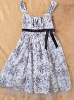 Bonnie Jean Girl's Sleeveless Over Knee   Dress Size 12 100% Cotton (H)