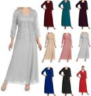Plus Size Long Lace Mother of The Bride Dress Formal Chiffon Evening Party Dress