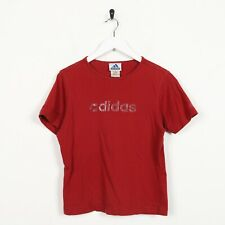 Vintage Women's 90s ADIDAS Big Spell Out Logo T Shirt Tee Red | Small S