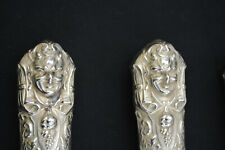 Stunning Antique Sterling 3 pc Roast Carving Set Reed & Barton Renaissance 1880s