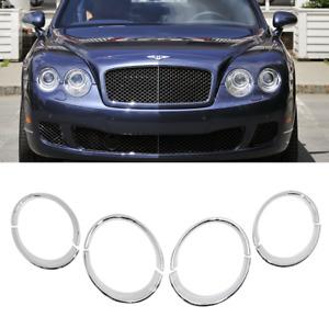 Bentley Continental Flying Spur Headlight Trims Lights Rims Chrome Bezels 4D
