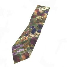 Christian Dior Tie Classic Green Multicoloured Silk Floral Print Formal 281837