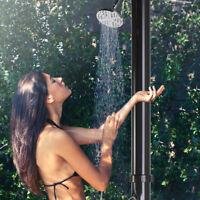 Outdoor Solar Heated Shower w/Shower 5.3 Gallon Dual-Purpose Poolside Beach Pool
