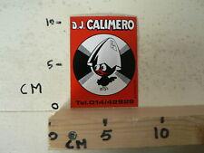 STICKER,DECAL D.J. CALIMERO  PLAATJES DRAAIEN DISCO MUSIC ?