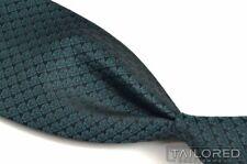 "NEW - ERMENEGILDO ZEGNA Teal Heart Geometric 100% Silk Mens Luxury Tie - 3.00"""