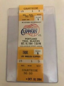 1984 Los Angeles Clippers First  game ever ticket  NBA Basketball