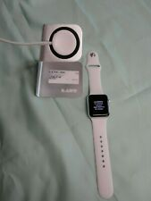 Apple iWatch 38mm Series 3 GPS Smart Watch - Silver w/ White Band~Factory reset